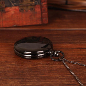 Mom To Son-Never Lose Quartz Pocket Chain Watch 4507