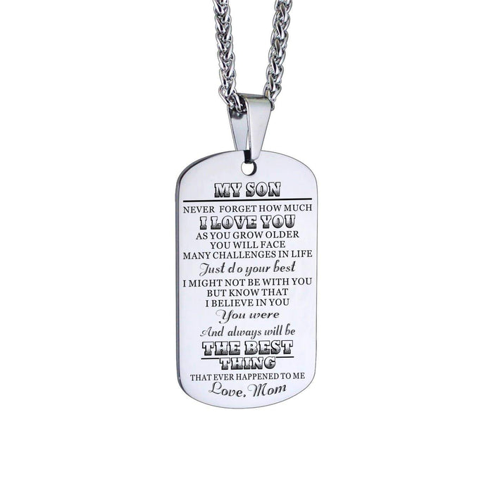 Mom To Son-The Best Thing Personalized Dog Tags For Graduation Birthday Gift 6030 Necklace