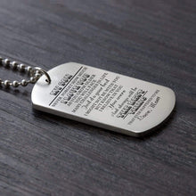 Load image into Gallery viewer, Mom To Son-The Best Thing Personalized Dog Tags For Graduation Birthday Gift 6030
