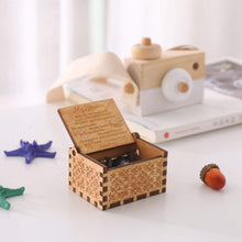 Load image into Gallery viewer, Mom To Son-You Are My SONSHINE Engraved Wooden Music Box  MB021