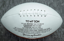 Load image into Gallery viewer, Mom To Son- You Are My Sunshine Engraved American Football 004