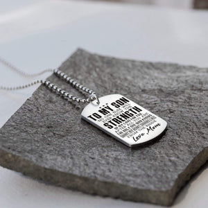 Mom To Son-You Are The Only One Who Knows My Heart Dog Tags 6037