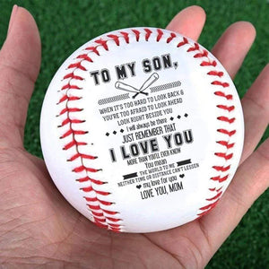 Mom To Son-You Mean The World To Me Engraved Baseball Gift