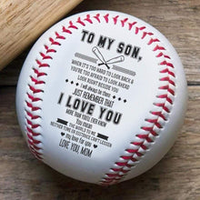 Load image into Gallery viewer, Mom To Son-You Mean The World To Me Engraved Baseball Gift