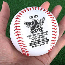 Load image into Gallery viewer, MomTo Son-Never Forget Your Way Back Home Engraved Baseball Gift