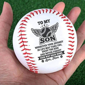 MomTo Son-Never Forget Your Way Back Home Engraved Baseball Gift