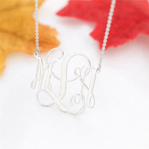 Monogram Customized Initial Necklace Gold Color