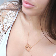 Load image into Gallery viewer, Monogram Customized Initial Necklace Gold Color