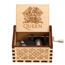 Load image into Gallery viewer, NEW QUEEN Engraved Hand Cranked Wooden Music Box