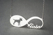 Load image into Gallery viewer, Personalised Infinity Dog Necklace Silver / Kids(38cm)