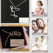 Load image into Gallery viewer, Personalized Actual Signature Necklace Gold-color