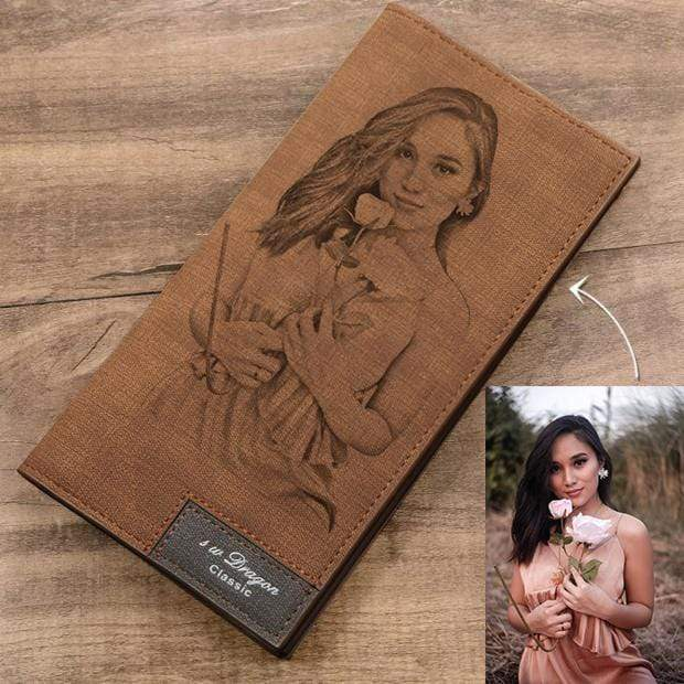 Personalized Bi-folder Photo Wallet For Men And Women