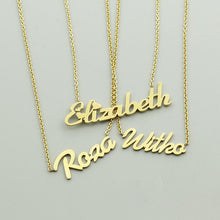 Load image into Gallery viewer, Personalized Cursive Name plated Pendants 2019 Gold-color
