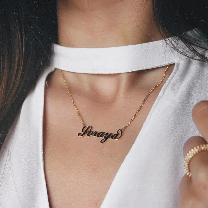 Personalized Cursive Name plated Pendants 2019 Gold-color