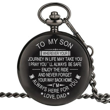 Load image into Gallery viewer, Personalized Engraved Pocket Watch For Men, Color - Dad For Son