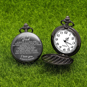 Personalized Engraved Pocket Watch For Men, Color - Mom For Son