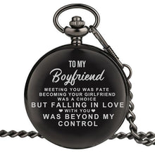 Load image into Gallery viewer, Personalized Engraved Pocket Watch For Men, Color - To Boyfriend