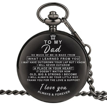 Load image into Gallery viewer, Personalized Engraved Pocket Watch For Men, Color - To Dad