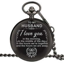 Load image into Gallery viewer, Personalized Engraved Pocket Watch For Men, Color - To Husband