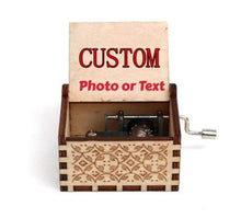 Load image into Gallery viewer, Personalized Engraved Wooden Music Box
