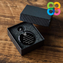 Load image into Gallery viewer, Personalized Graduation Gift Engraved Quartz Pocket Chain Watch Black