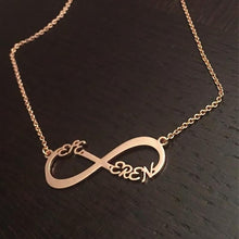 Load image into Gallery viewer, Personalized Infinity Name Necklace -Up To 6 Names Rose Gold