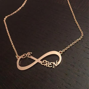 Personalized Infinity Name Necklace -Up To 6 Names Rose Gold