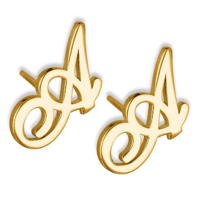 Personalized Initial Name Earrings For Kids Gold Color