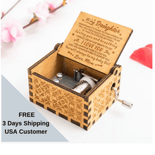 Load image into Gallery viewer, Personalized Mom To Daughter-You Will Always Be My Baby Girl Engraved Wooden Music Box  MB012