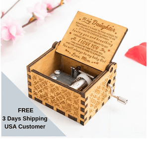 Personalized Mom To Daughter-You Will Always Be My Baby Girl Engraved Wooden Music Box  MB012
