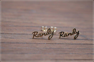 Personalized Name Earrings Gold Color
