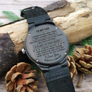 Son To Dad-Always and Forever Engraved Wooden Watch W1309