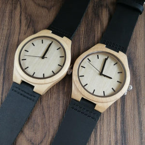 To Boyfriend-Love You and Only You Engrave Wooden Watch Men