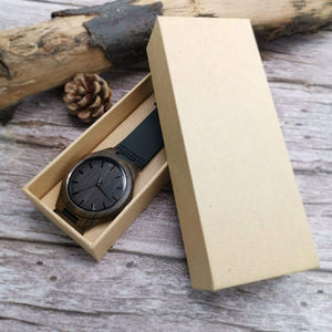 To Boyfriend- Missing Piece Engraved Wooden Watch W1205