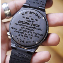Load image into Gallery viewer, To Boyfriend- The Day I Met You Engraved Wooden Watch