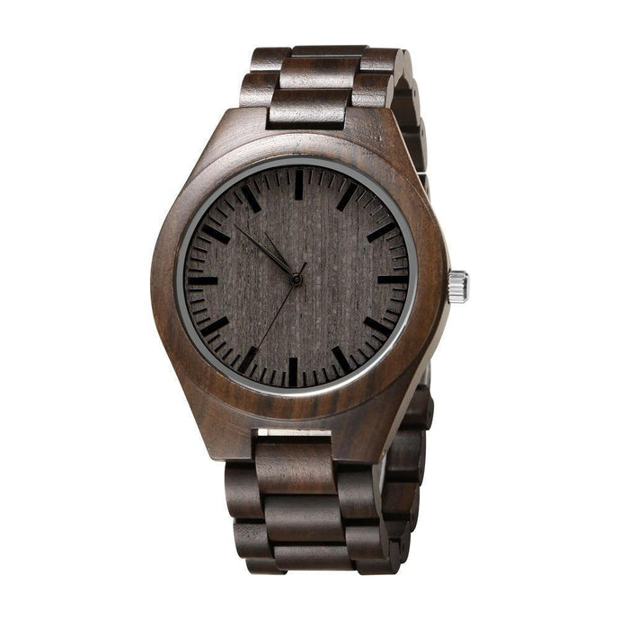 To Dad Engraved Natural Ebony Wooden Watch