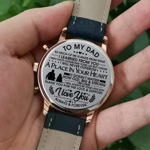 To Dad-Love You Always And Forever Engraved Casual Quartz Wrist Watch