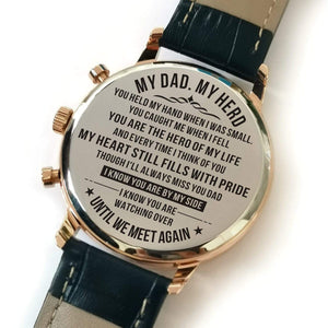 To Dad Till We Meet Again Engraved Casual Quartz Wrist Watch