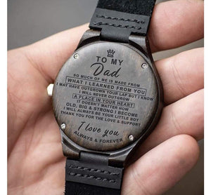 To Dad-Your Little Boy Engraved Wooden Watch