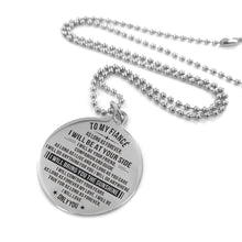 Load image into Gallery viewer, To Fiance-I Will Bring You The Sunshine Engraved Necklace and Key Chain Necklace