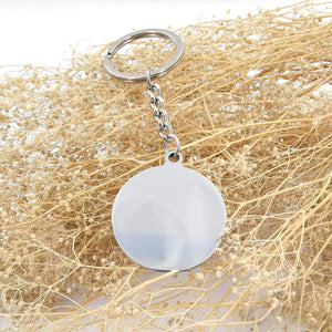 To Fiance-I Will Bring You The Sunshine Engraved Necklace and Key Chain Keychain