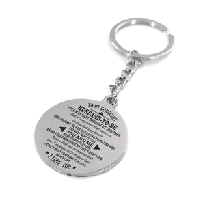 To Fiance-Marry The Love Of My Life Engraved Necklace and Key Chain Keychain