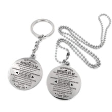 Load image into Gallery viewer, To Fiance-Marry The Love Of My Life Engraved Necklace and Key Chain Keychain Necklace Set