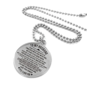 To Husband-Find You Soon and Love You Longer Engraved Necklace and Key Chain Necklace
