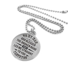 Load image into Gallery viewer, To Husband-God Led Me Straight To You Engraved Necklace and Key Chain Necklace