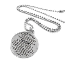 Load image into Gallery viewer, To Husband-How Lucky I am Engraved Necklace and Key Chain Necklace