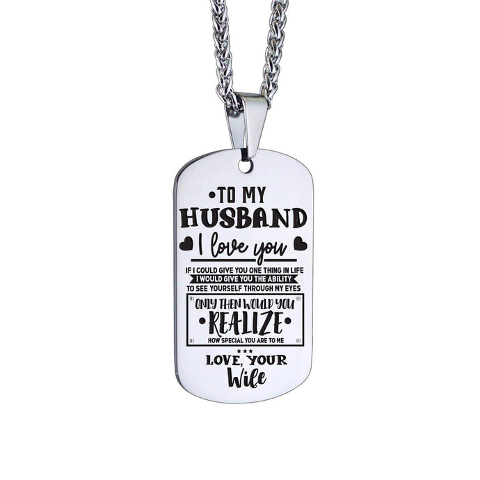 To Husband-How Special You Are To Me Personalized Dog Tags 6069 Necklace