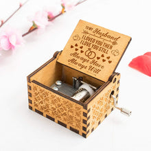 Load image into Gallery viewer, To Husband-Love You More Than You Know Engraved Wooden Music Box  MB011
