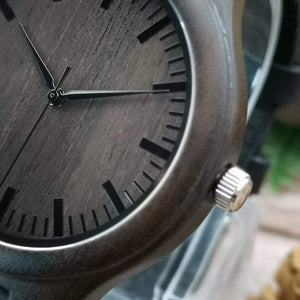 To Husband- Sooner and Longer Engraved Wooden Watch