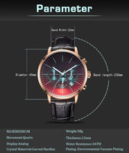 Load image into Gallery viewer, To Husband- Sooner and Longer Metal Engraved Wrist Watch